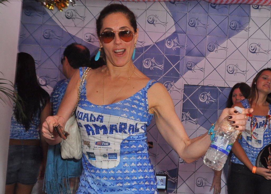 Christiane Torloni na Feijoada do Amaral, no Jockey Club da Gávea, neste sábado, 18