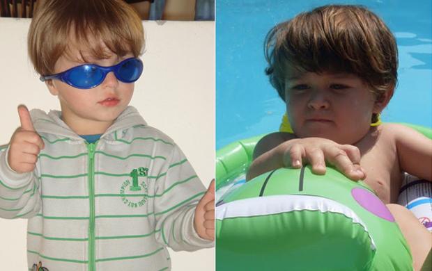 O fofíssimo Ryan já tem pose de superstar; segundo Lorrane Ferreira, todos dizem que seu filho Luan parece com o cantor
