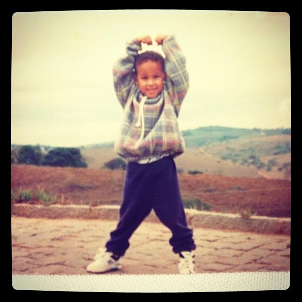 Neymar quando criança (Foto: Twitter/ Reprodução)