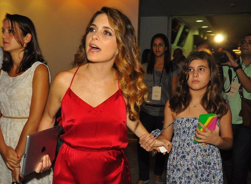 Cláudia Abreu e a filha Maria