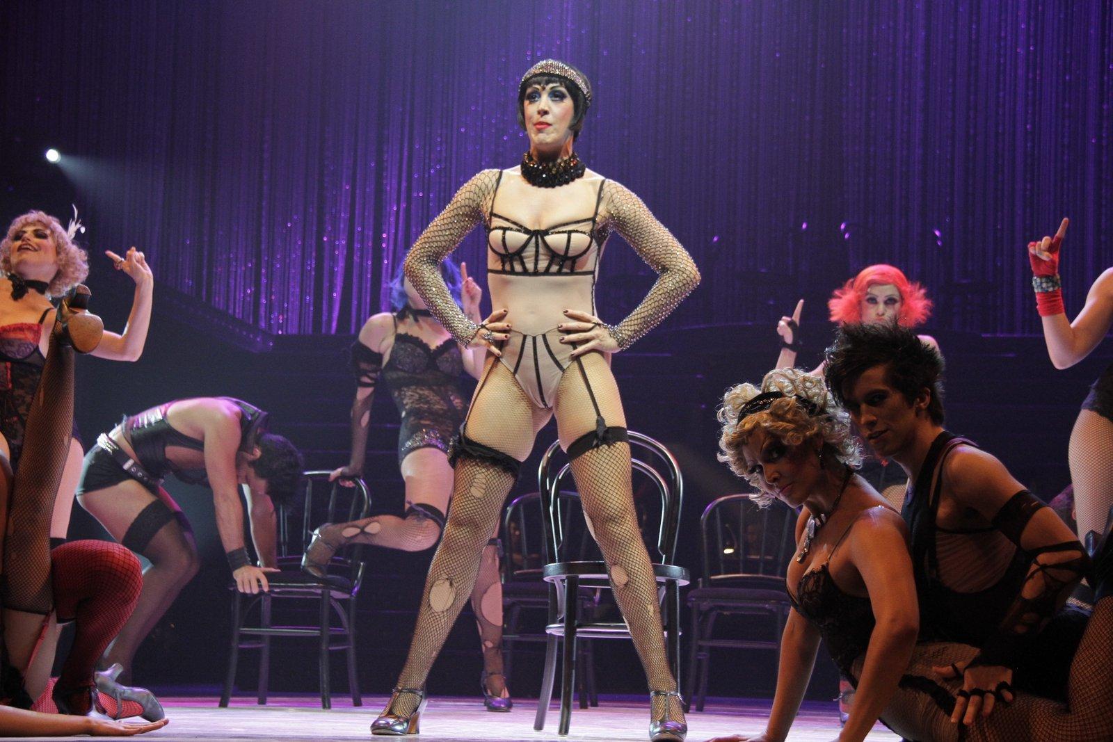 Claudia Raia apresentou alguns trechos do musical 'Cabaret', no Rio, nesta segunda-feira, 26