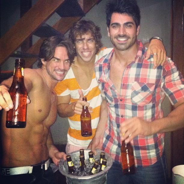 Ex-BBBs Rodrigo, Maumau e Rodrigão (Foto: Twitter/ Reprodução)