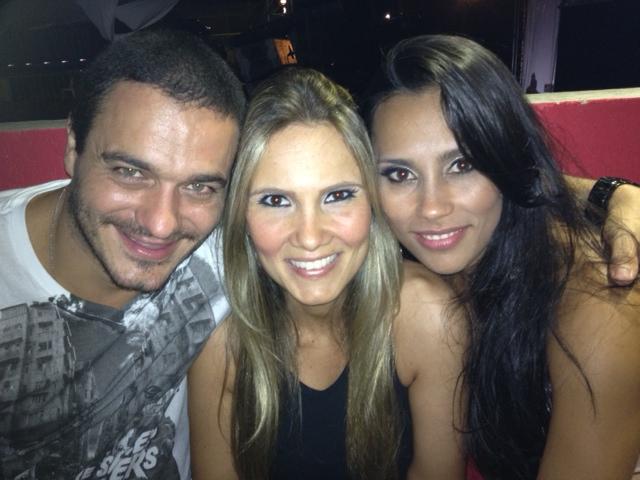 Ex-BBBS Rafa, Josy e Kelly em show em São Paulo (Foto: Divulgação)