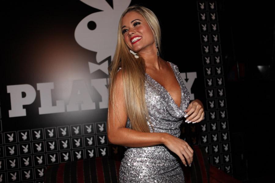 Aryane Steinkopf lançou sua Playboy nesta sexta, 13, em São Paulo.
