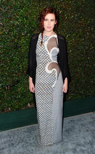 A atriz Rumer Willis, filha de Bruce Willis e Demi Moore