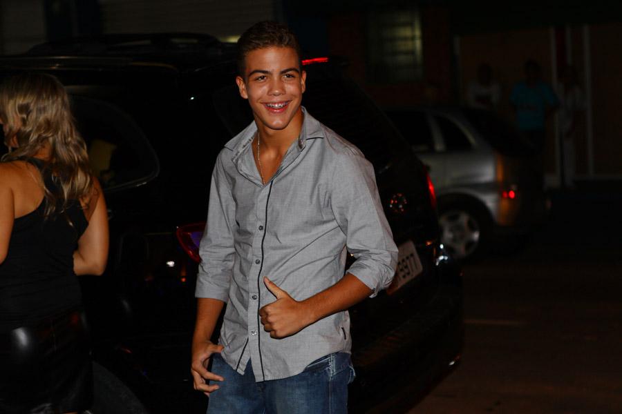 Ronald chega para sua festa de 12 anos, que aconteceu na noite desta sexta-feira, 20, em São Paulo