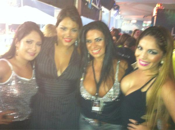 Jakeline, Analice, Solange Gomes e Anamara (Foto: Reprodução /Twitter)