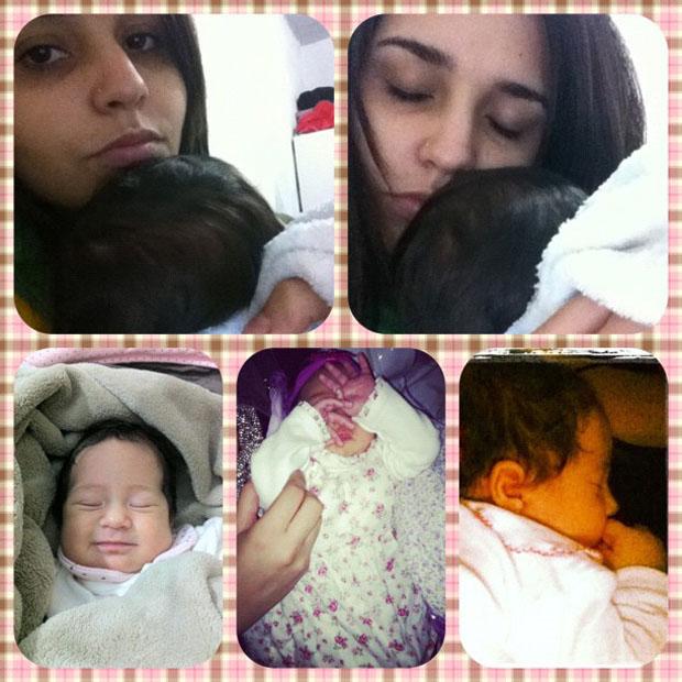 Perlla posta foto com a filha (Foto: Twitter / Reprodução)