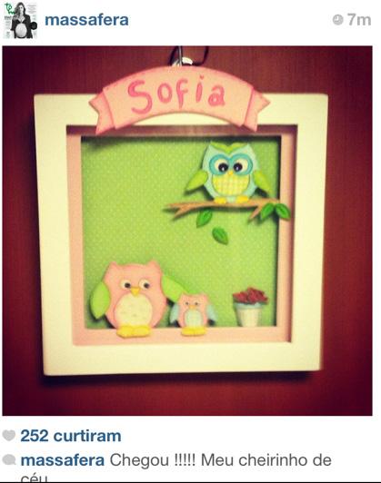 Enfeita da porta do quarto de Grazi Massafera na maternidade (Foto: Reprodução/Twitter)