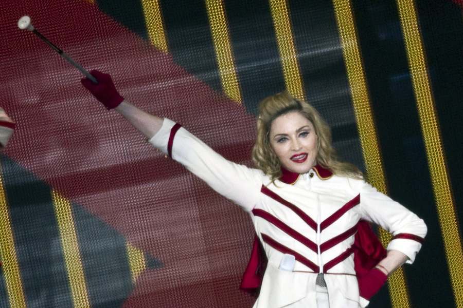 Madonna iniciou sua nova turnê mundial em Israel