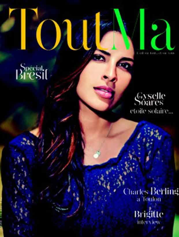 Giselle Soares em capa de revista francesa (Foto: Reprodução/Twitter)