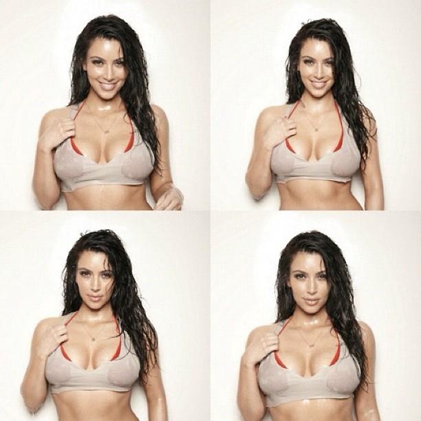 Kim Kardashian posta foto sensual no Twitter (Foto: Reprodução/Twitter)