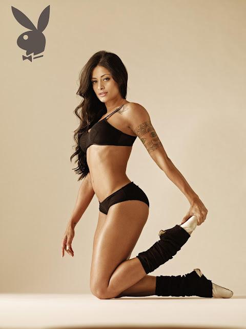 Aline Riscado em foto para a 'Playboy' (Foto: Divulgação)
