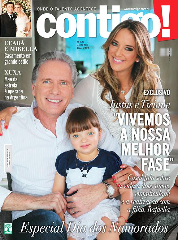 Roberto Justus e Ticiane Pinheiro (Foto: Revista Contigo!/Reprodução)