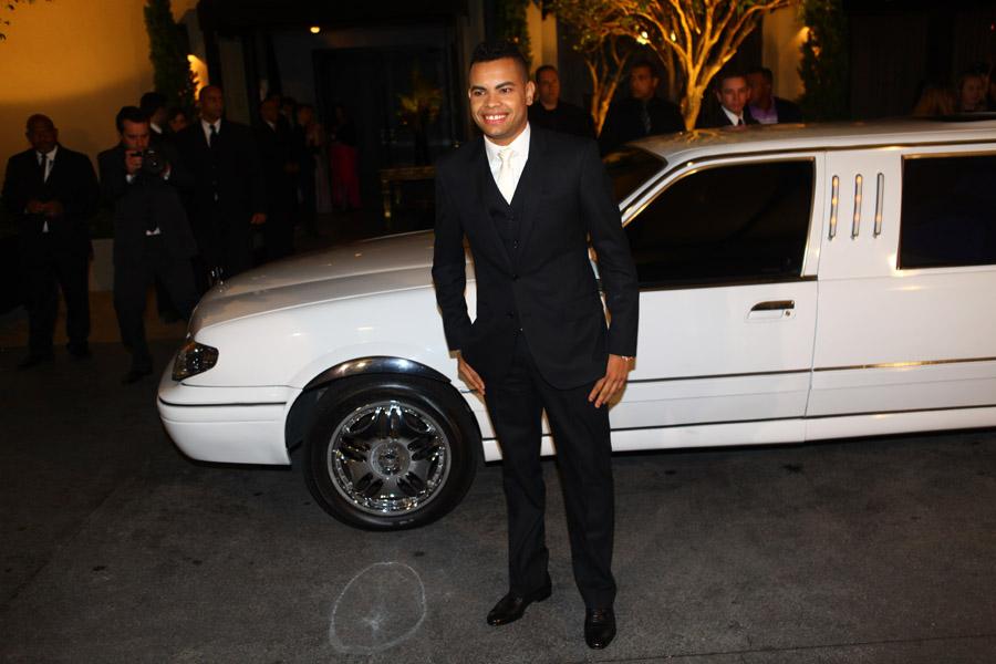 O jogador chegou de limousine