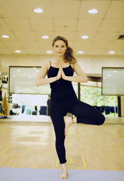 Rita Guedes faz ioga há 10 anos