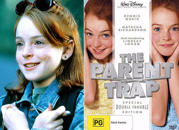 """Em 1998, Lindsay Lohan - ainda com a carinha inocente - ficou famosa interpretando gêmeas no filme da Disney """"Operação Cupido"""""""