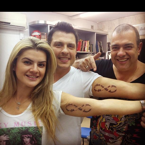 Mirelle e Ceará fazem  tatuagem idênticas (Foto: reprodução Twitter)