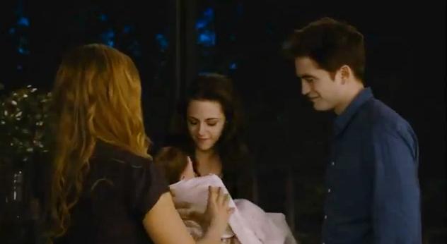 Bebê de Bella na saga crepúsculo (Foto: Reprodução / Youtube)