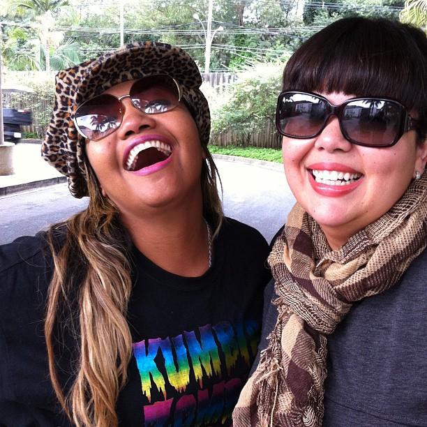 Gaby Amarantos e Fabiana Karla (Foto: Reprodução/Twitter)