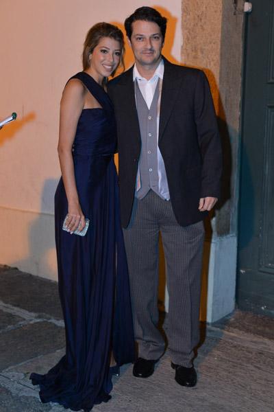Marcelo Serrado e a noiva, Roberta Fernandes
