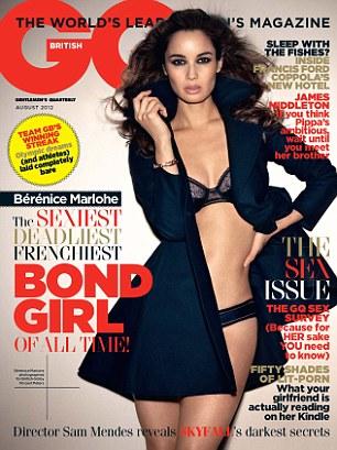 Berenice Marlohe posa de lingerie para revista (Foto: Reprodução)