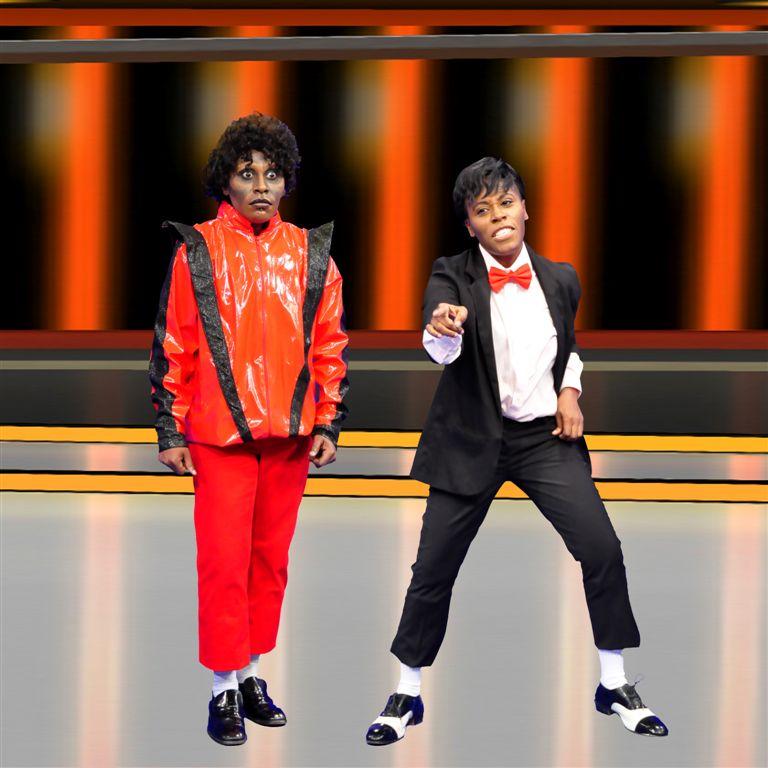 6) Pepê e Neném se transformaram em Michael Jackson para programa de TV
