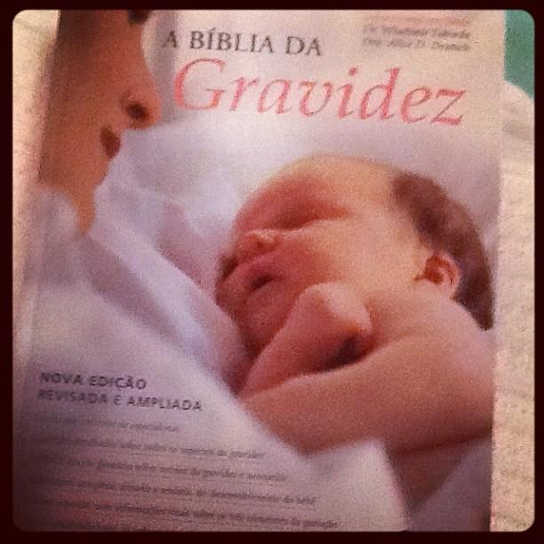 """Carol Francischini posta foto de """"Bíblia da Gravidez"""" (Foto: Instagram / Reprodução)"""