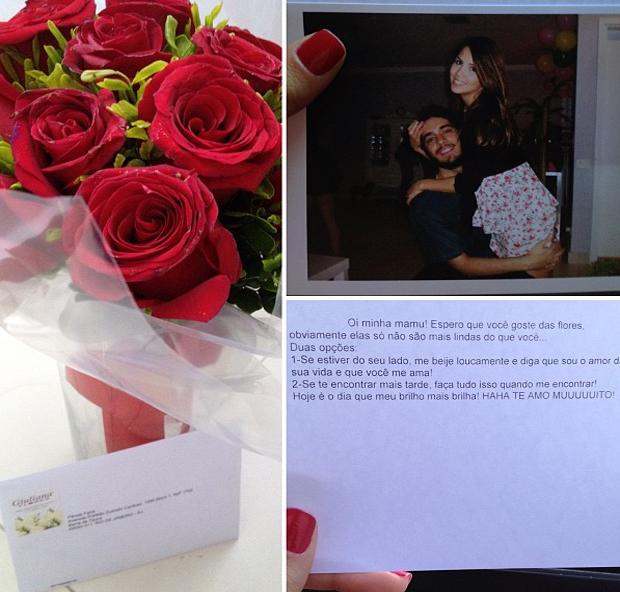 Pérola Faria posta foto de declaração de amor do namorado (Foto: Instagram / Reprodução)