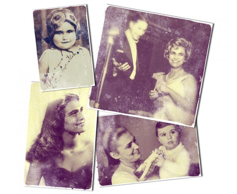 Imagens de arquivo da apresentadora quando jovem, criança e bebê