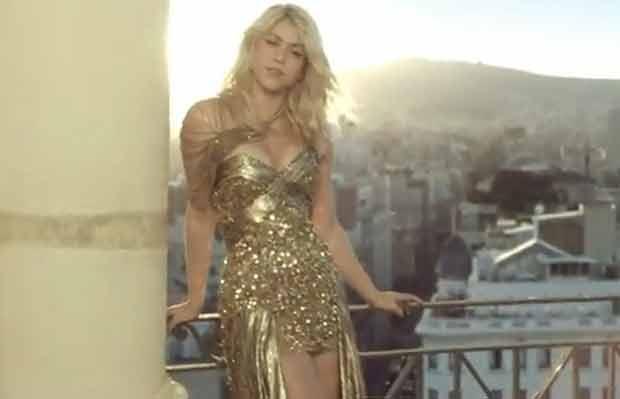 Shakira em cena de seu novo clipe (Foto: Reprodução/YouTube)