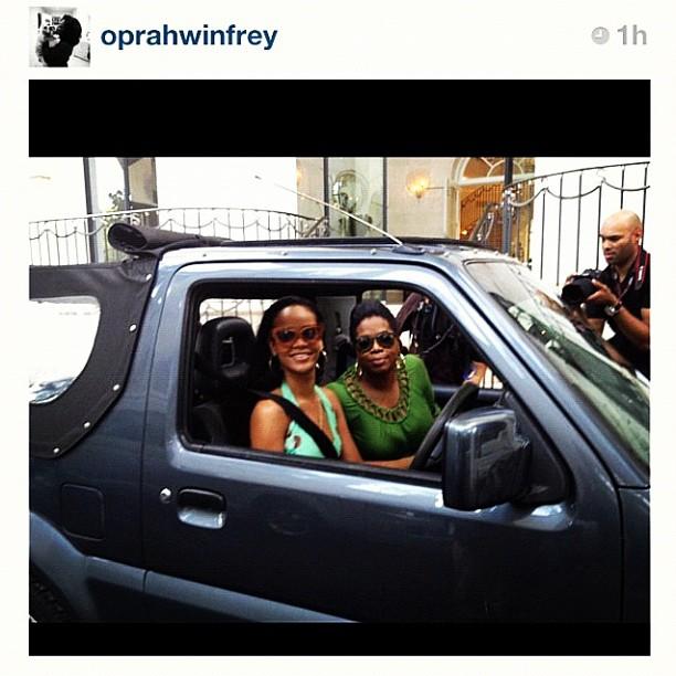 Rihanna e Oprah em Barbados (Foto: Reprodução/Instagram)