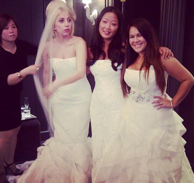 Lady Gaga de noiva (Foto: Instagram / Reprodução)