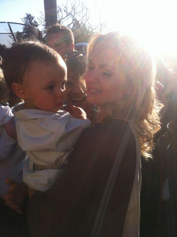 Eliana com o filho (Foto: Reprodução / Blog Oficial)