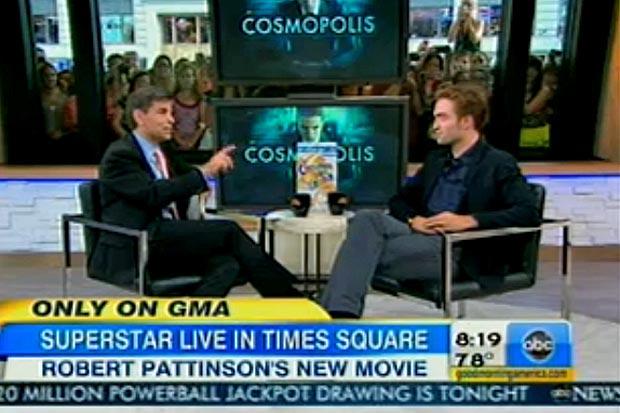 Robert Pattinson no 'Good Morning America' (Foto: Reprodução)