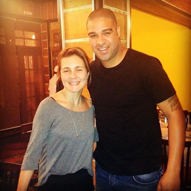 Adriana Esteves e Adriano (Foto: Instagram/Reprodução)