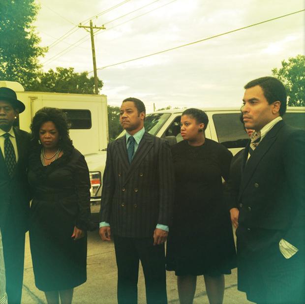 Lenny Kravitz posta foto com Oprah e Cuba Gooding Jr em gravação de filme (Foto: Reprodução / Twitter)