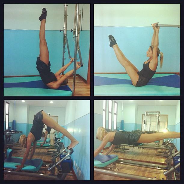 Bia e Branca Feres na aula de pilates (Foto: Instagram)
