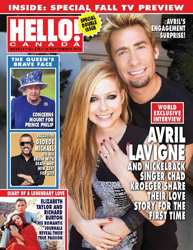 Avril Lavigne na capa da revista Hello  (Foto: Reprodução)
