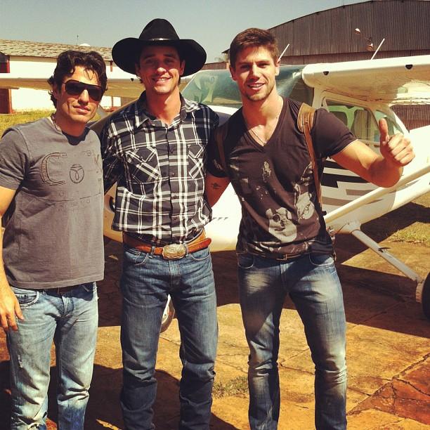 João Maurício, Fael e Jonas em Campo Grande (Foto: Reprodução/Instagram)