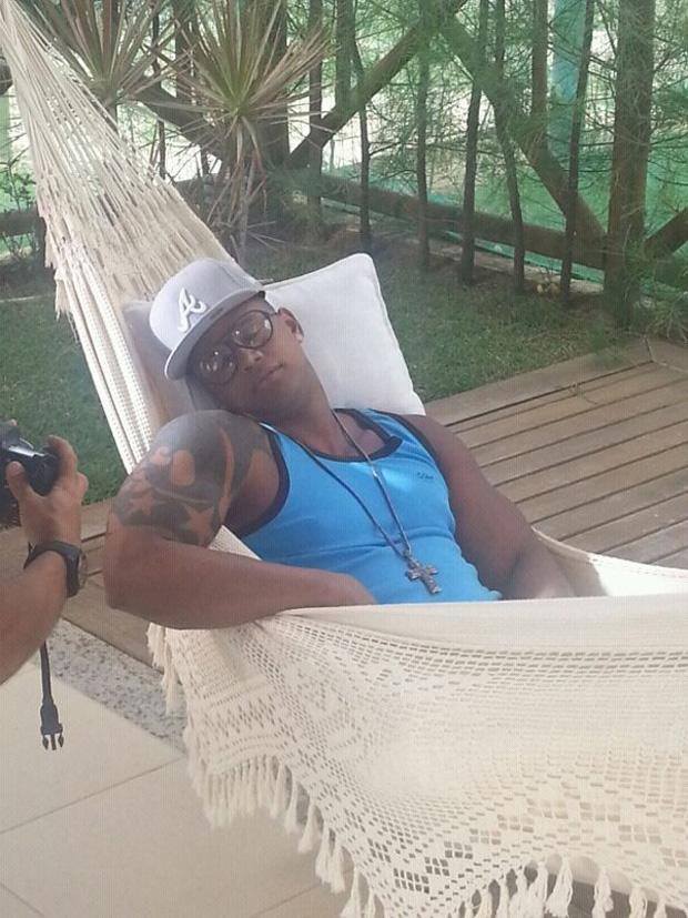 Léo Santana grava videoclipe (Foto: Divulgação)