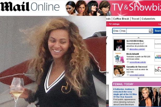 Beyoncé comemora aniversário em iate no Mediterrâneo (Foto: Reprodução/Daily Mail)