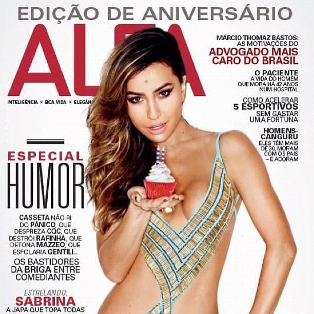 Sabrina Sato na capa da 'Revista Alfa' (Foto: Divulgação / Revista 'Alfa')