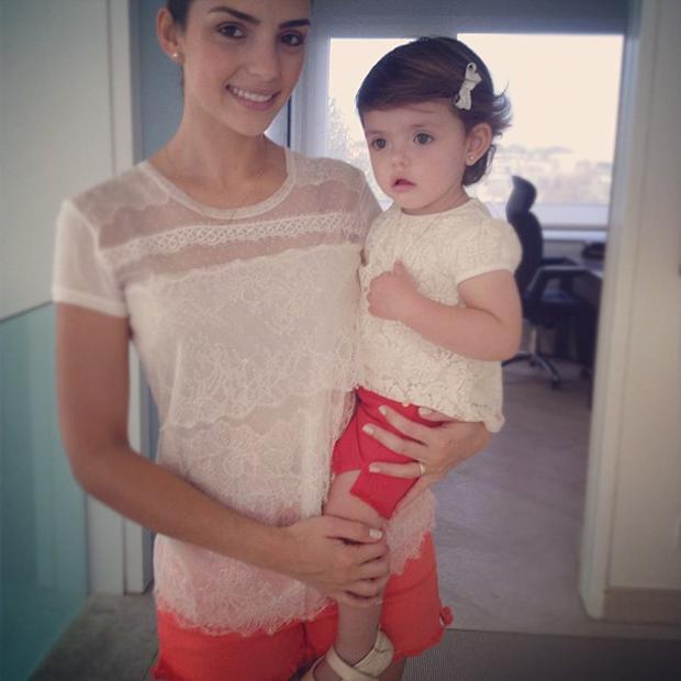 Carol Celico e a filha Isabella (Foto: Instagram / Reprodução)