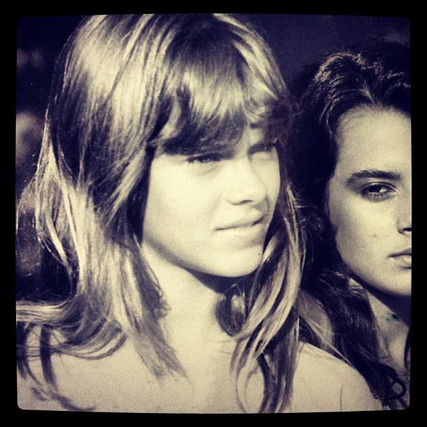 Carolina Dieckmann aos 13 anos (Foto: Instagram)
