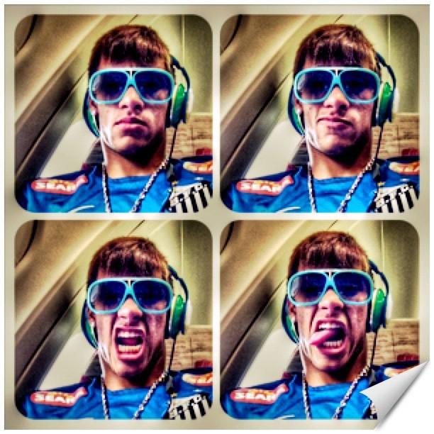 Neymar faz caras e bocas em rede social (Foto: Reprodução / Instagram)