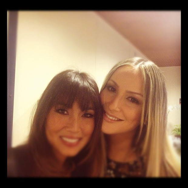 Claudia Leitte e Daniele Suzuki nos bastidores do programa 'The Voice Brasil' (Foto: Instagram / Reprodução)