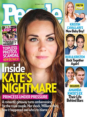 Kate Middleton na capa da 'People' (Foto: Reprodução)