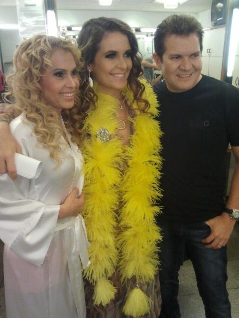 Joelma, Chimbinha e Cláudia Abreu (Foto: Divulgação)