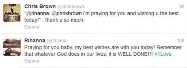 Rihanna troca mensagens com Chris Brown no twitter (Foto: Reprodução / Twitter)